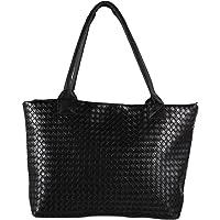 Powlance Women Handbag Braided Shoulder Bags Tote Purse PU Leather Hobo Bag