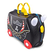 Trunki Children's Ride-On Suitcase: Pedro the Pirate Ship (Black)