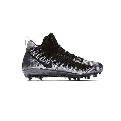 Nike Men's Alpha Menace Pro Mid Football Cleats-Metallic Silver/Black-12   Basketball