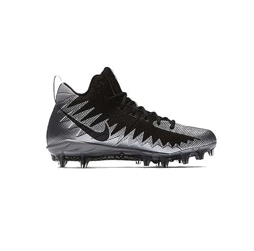 best authentic f9c82 350de Nike Alpha Menace Pro Mid Mens Football Cleats Black/White: Amazon ...