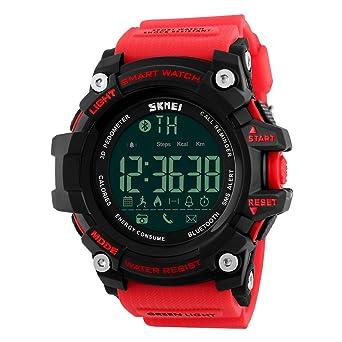 Vemupohal Reloj Inteligente LED Digital para Hombre SmartWatch 50M ...