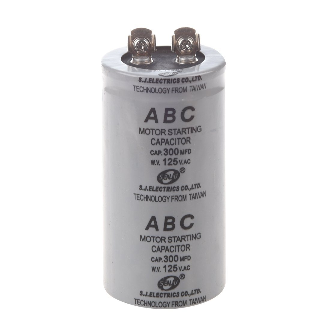SODIAL(R) AC 125V 300uF 300MFD 2 Terminals Polypropylene Film Motor Run Start Capacitor