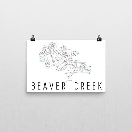 Amazoncom Beaver Creek Poster Beaver Creek Ski Resort Poster - Beaver creek ski trail map
