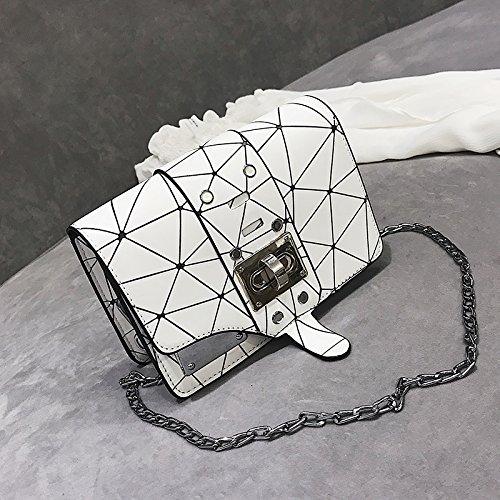 la Blanc WSLMHH Sac carré Petit Mode de Sac épaule Version Sauvage nbsp;Chao chaîne Sac coréenne Messenger à qIrwIaU
