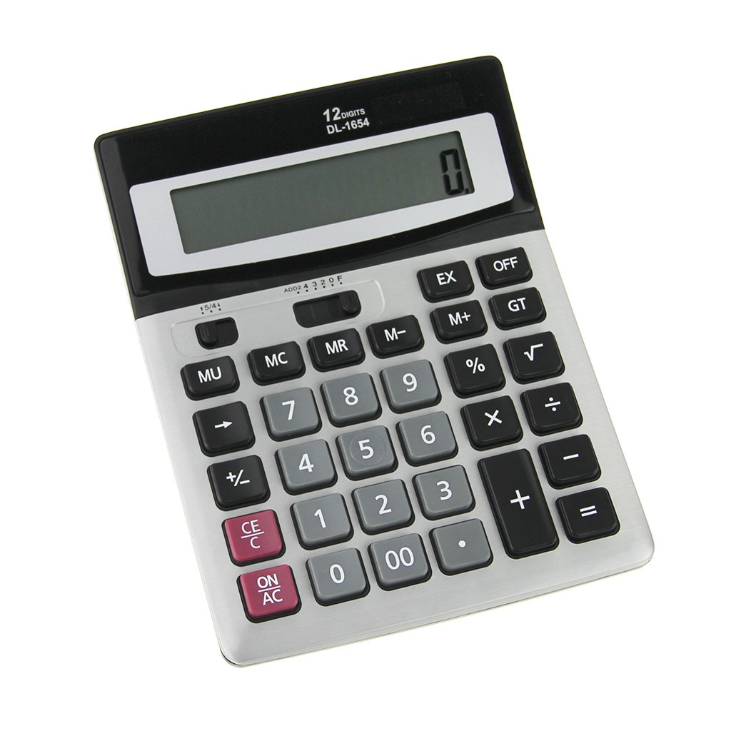 Financial Electronic Desktop Calculator Scientific Handheld Standard Function Calculator Solar and Button Battery Extra Large Screen Display