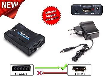 Convertidor Video HD AV Adaptador de euroconector a HDMI 720P 1080P Audio Coaxial Convertidor Scart a
