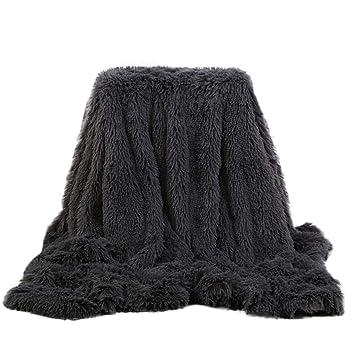 Theoylos Faux Fur Shaggy Throw Blanket Super Soft Fuzzy Fluffy Plush Throws Fleece Blanket for Bed Sofa