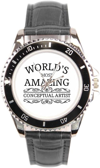 sjfy relojes con bandas de cuero tiempo artista Digital reloj con correa de cuero