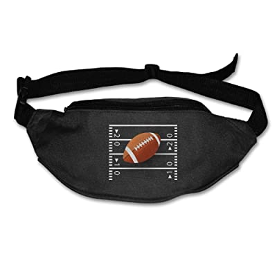 Funny American Football Running Belt Adjustable Black Waist Fanny Pack Bum Bag Hiking Fitness Runners Waist Bag For Men Women