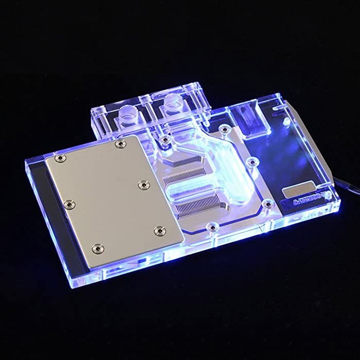 B BYKSKI VGA GPU RGB LED Water Cooling Block for Foundation Version RX580