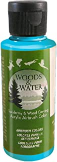 product image for Badger Air-Brush Co. 4-Ounce Woods and Water Airbrush Ready Water Based Acrylic Paint, Turkey Blue Gill