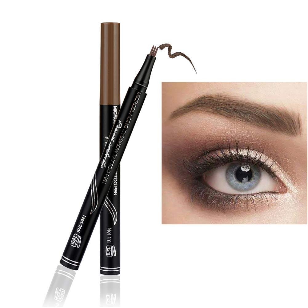 Amazon.com : Eyebrow pencil Eyebrow Cream Eyebrow Enhancers Liquid Stain Eyebrow Powder Micro Blading Eyebrow Tattoo Pen with 3D Fork Tip Waterproof Long ...