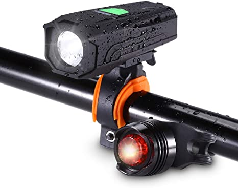 Luz Delantera Bicicleta,Luz Bici USB Rechargeable Súper Brillante ...