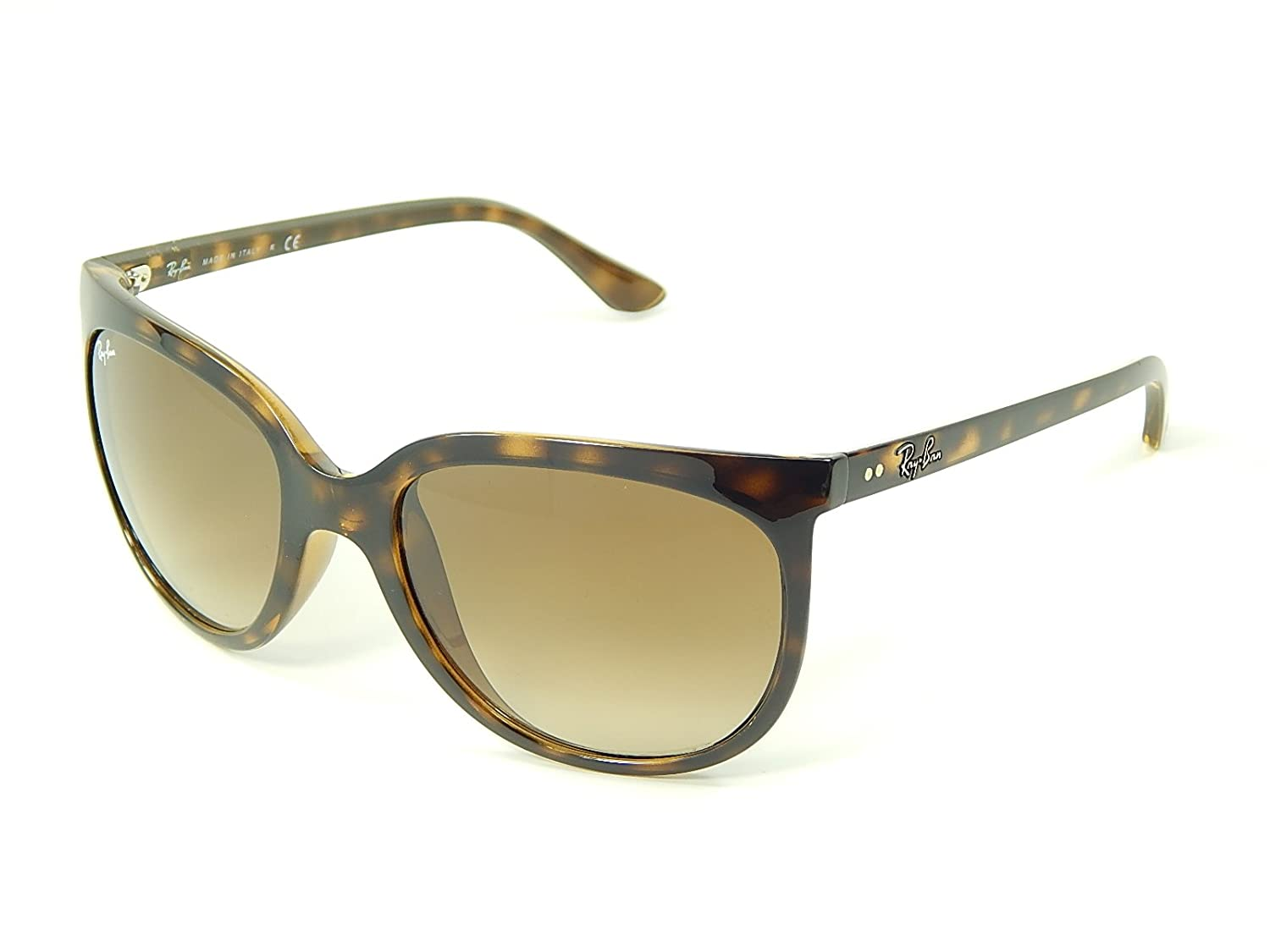 08a32942ea Amazon.com  New Ray Ban Cats 1000 RB4126 710 51 Tortoise Light Brown  Gradient 57mm Sunglasses  Clothing