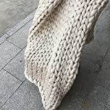 Chunky Knit Blanket,Cable Knit Throw,Chunky Knit Throw Arm Knit Blanket,Giant Knit Blanket,Merino Wool Throw Blanket,Queen King Bedspread,Gift Idea 79''x79''