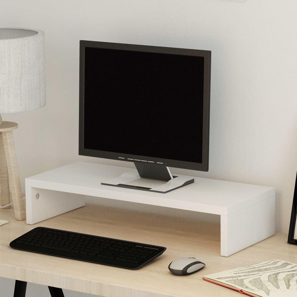 Festnight Soporte de Monitor de Port/átil Ordenador Elevador de Monitor,Dise/ño Minimalista,Madera Aglomerada,118x23,5x9cm,Beige