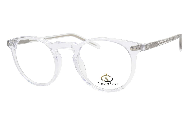 f2b6f7b9f Amazon.com: High End Acetate Eyewear Frame Crystal Clear Fashion Eyeglasses  Optical Frame For Men and Women (Utah Crystal): Clothing
