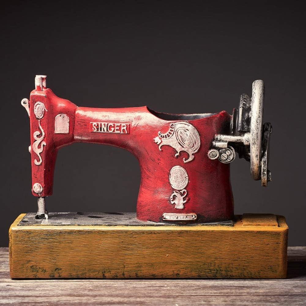 WZNING Estilo retro creativa Máquina de coser titular de la pluma de la decoración de mesa Oficina Europea Crafts Estilo Muebles for el hogar Máquina de coser titular de la pluma Crafts restaurante De