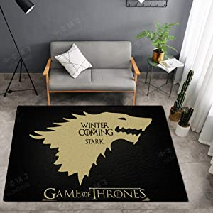 Lee My Modern Area Rugs Game of Thrones Rug Rectangle Simple Fashion Style Carpet Decor Floor Rug for Kitchen/Living Room/Bedroom,Wolf,60x90cm/24x36in