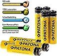 Aktionspreis !! Bundlestar - 8er Pack PATONA Akkus MICRO AAA Akku Batterien in Akkuboxen - Neueste Version - 900mAh - READY TO USE !