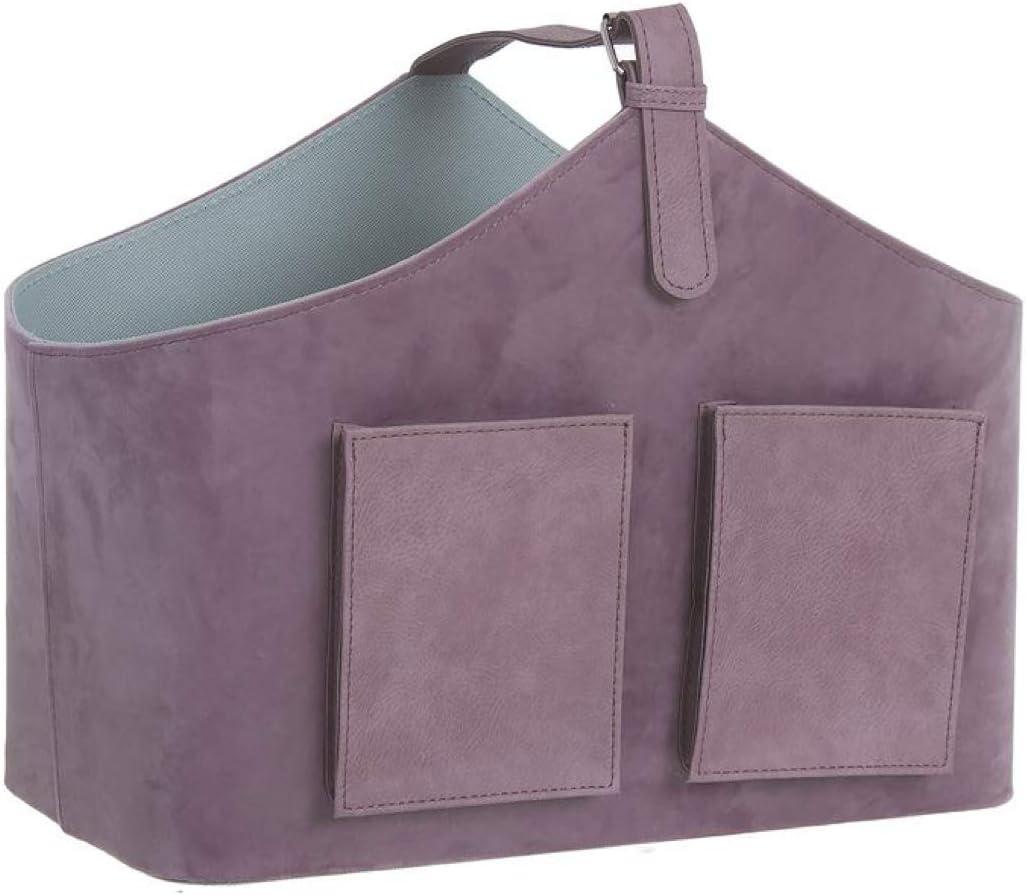 Vidal Regalos Portariviste in velluto viola con tasche 42 cm