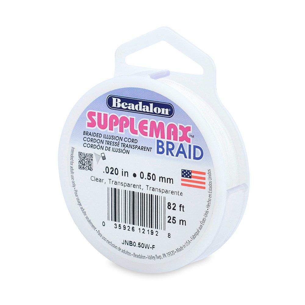 Beadalon 0.50mm Supplemax Braid, 82-Feet, Clear
