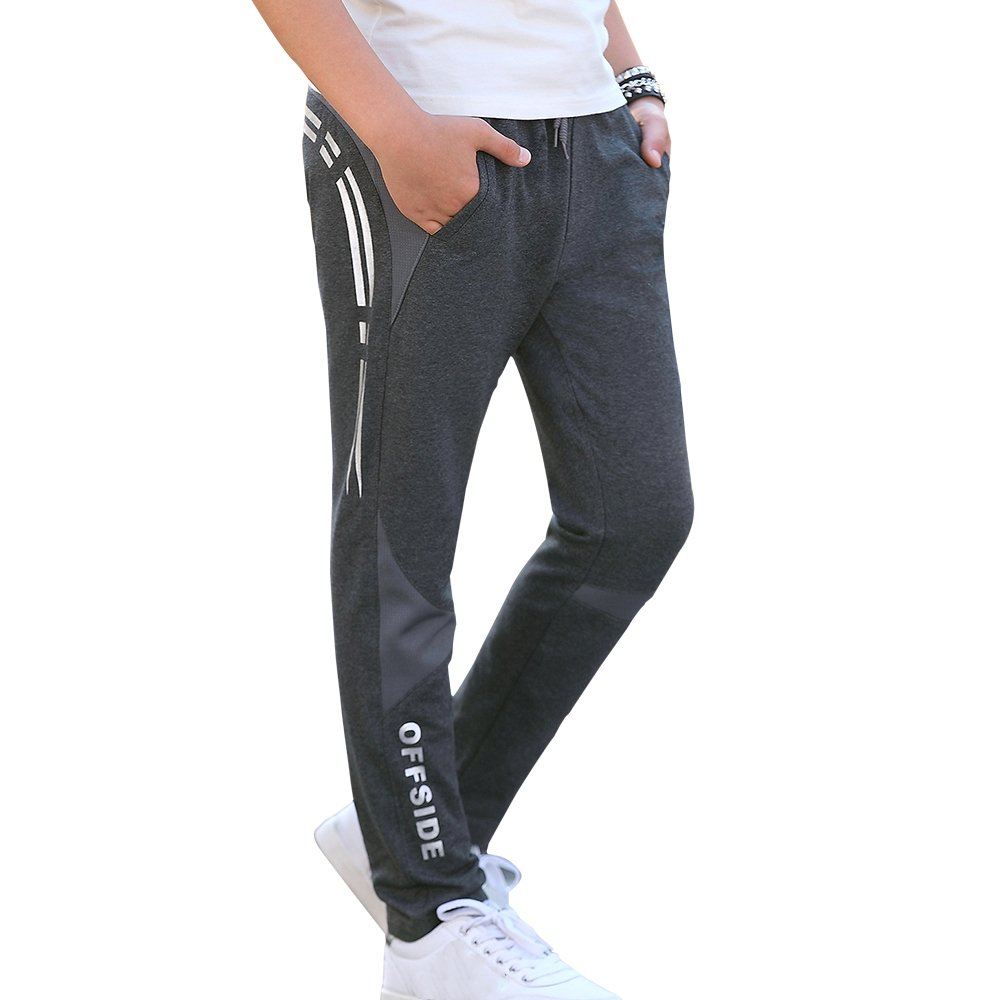 CNMUDONSI Sweatpants Boys Large Youth Casual Clothing Jogging Pants 8-16