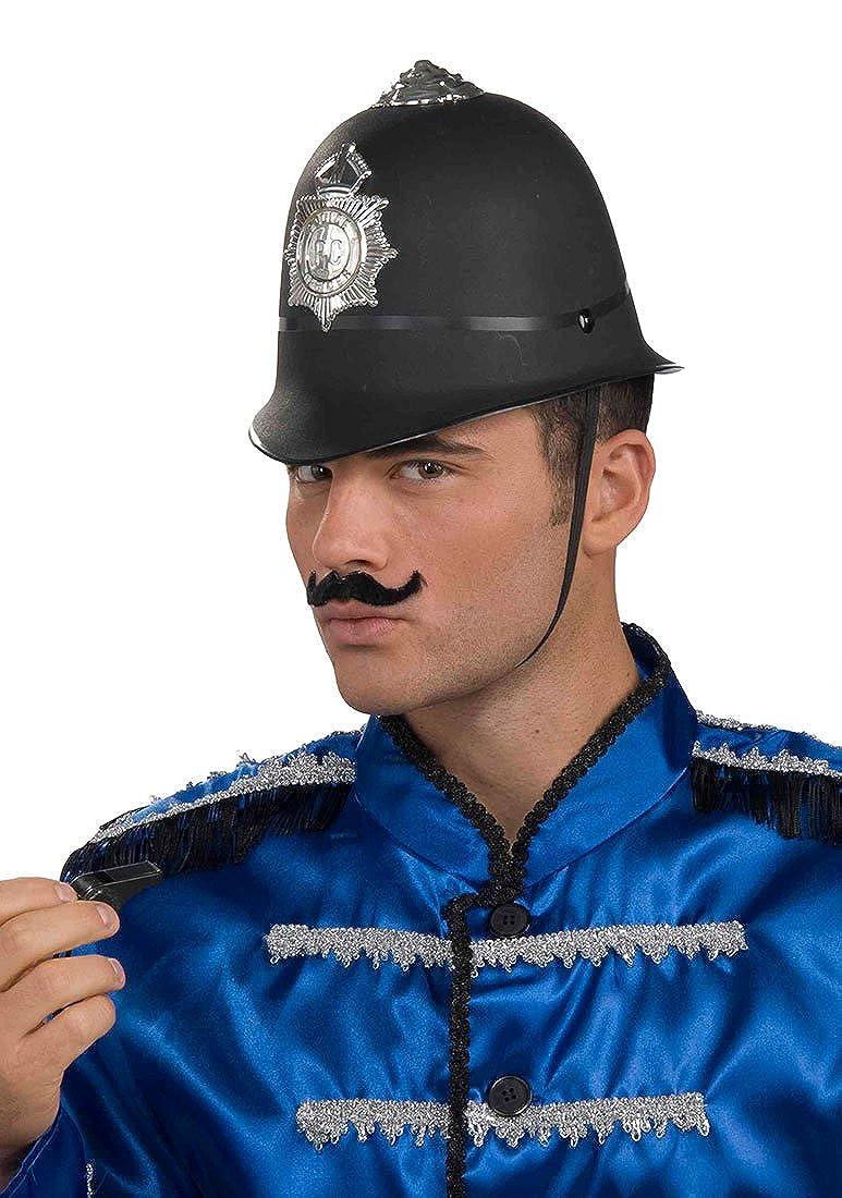 London Bobby Hat Black Traditional British Police Man Adult Fancy Dress Accessor