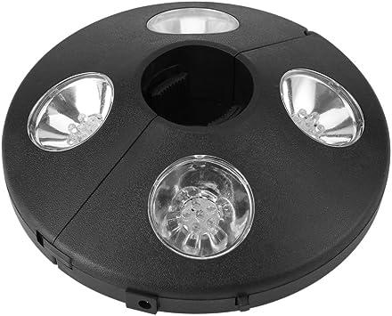 Luces para Sombrillas, 24 LED, Lámpara LED para sombrilla, Luz LED de parasol Lámparas de Noche Inalámbricos para Paraguas de Jardín Patio Playa Terraza y Piscina: Amazon.es: Bricolaje y herramientas