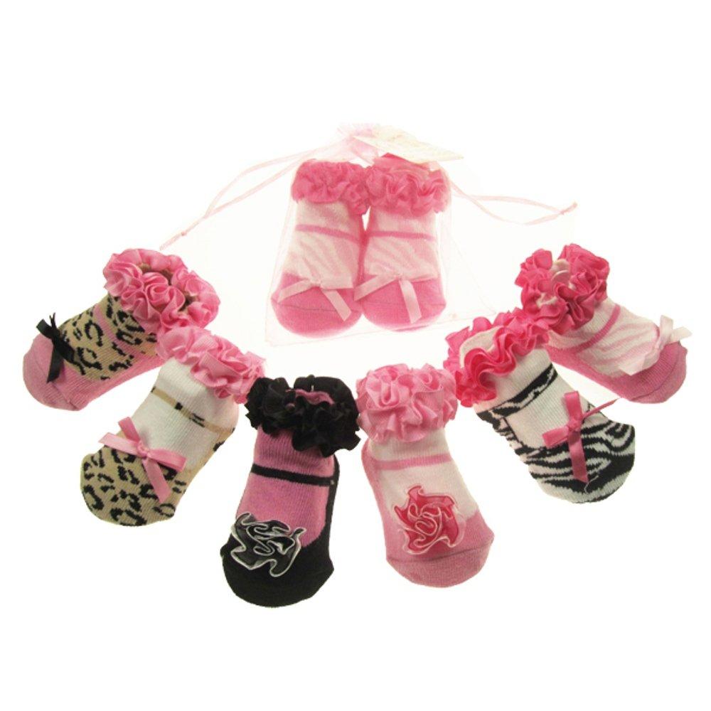 0-12 mths Lovely Frilly White Lace Ribbon Girls Socks BNWT 0-6 mths Newborn