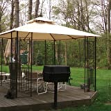 Garden Winds Leaf Gazebo Replacement Canopy Top Cover – RipLock 350 For Sale