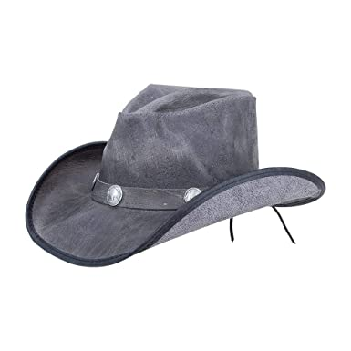 a4fda706e573e2 American Hat Makers Cyclone-Buffalo Band by Double G Hats Western Cowboy  Leather Hat,