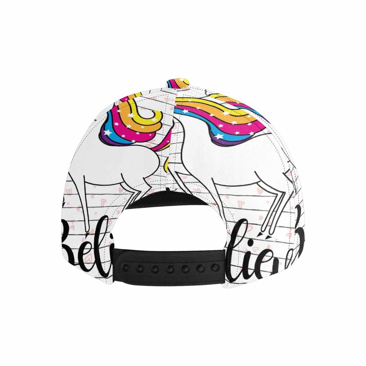 InterestPrint Cute Magic Cartoon Fantasy Cute Animal Unicorn Adjustable Dad Hat Flat Bill Baseball Cap