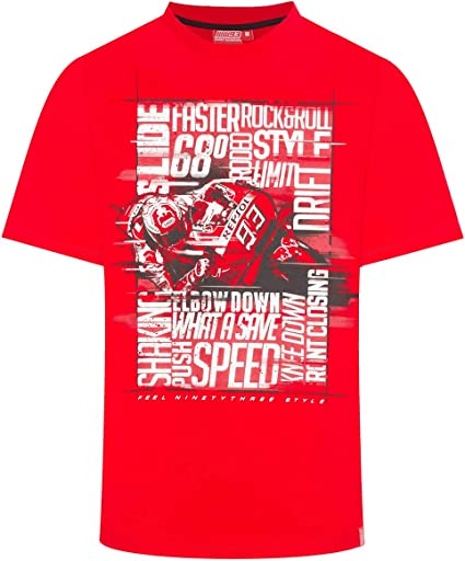 Marc Marquez - Camiseta roja para Hombre Photographic Words 93 ...