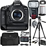 Canon EOS-1D X Mark II DSLR Camera Bundle with Speedlite 600EX II-RT and Manufacturer Accessories (12 Items)