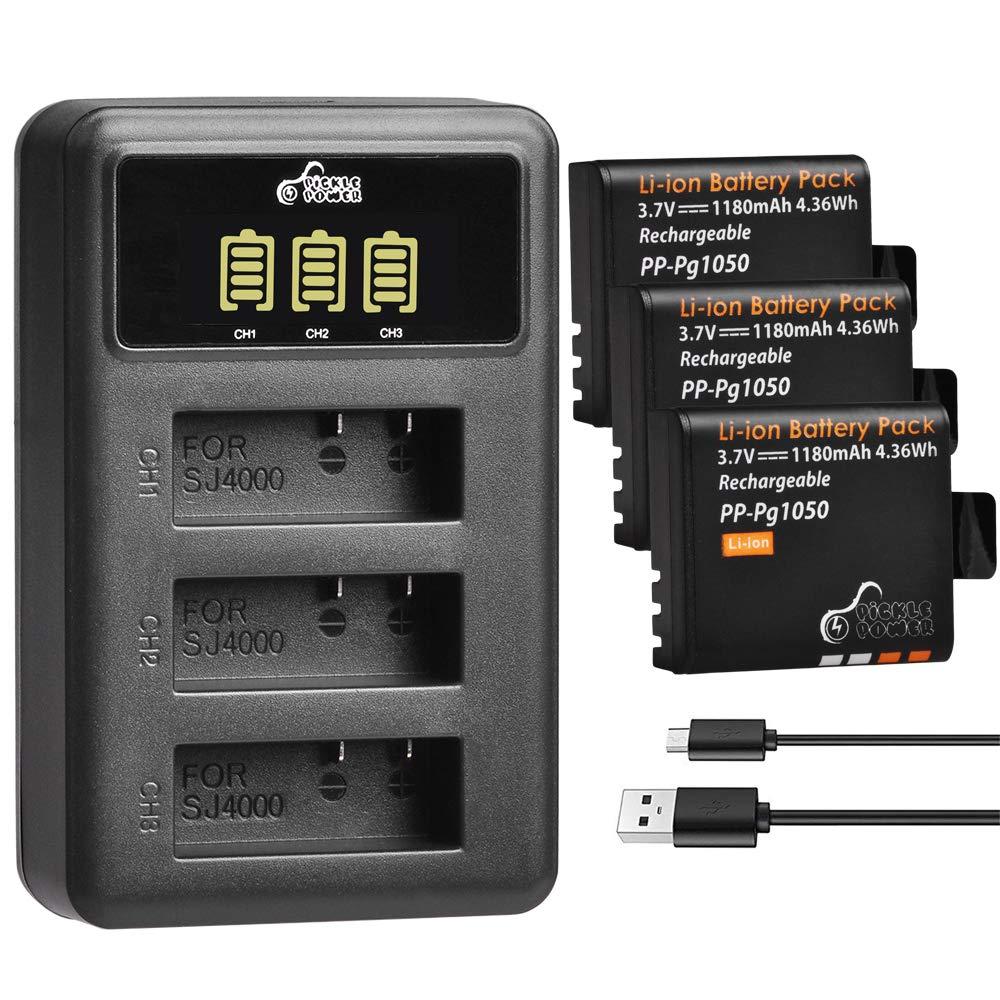Pickle Power - Pack de 3 baterías de 1180 mAh PG1050 y ...