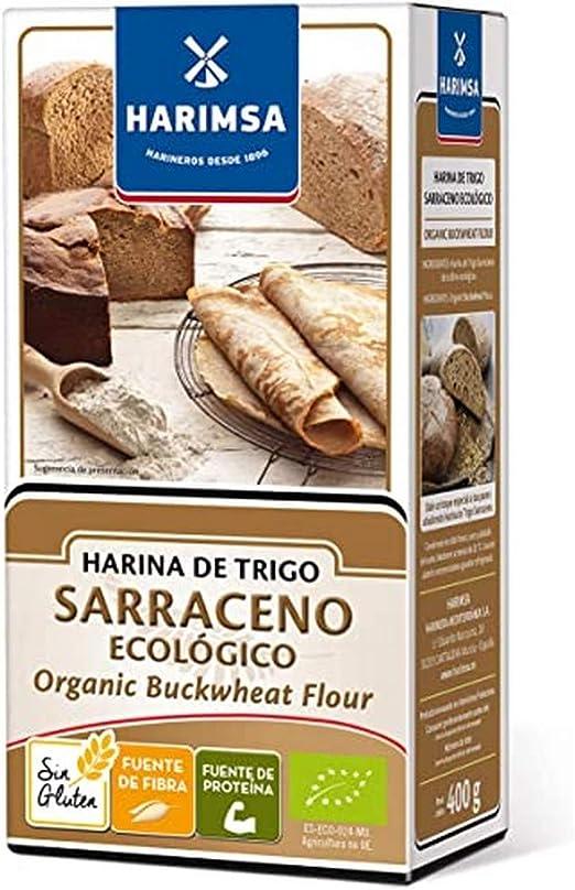 Harimsa Harina Trigo Sarraceno Ecológico, Original, 400 Gramos