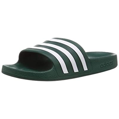 adidas Unisex Adult's Adilette Aqua Slide Sandal, Collegiate Green/Footwear White/Collegiate Green, 9 UK | Sport Sandals & Slides