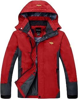 Wantdo Men's Hooded Sportswear Windbreaker Outdoor Insulated Windproof Rain Jacket CaHWLBL003menE0