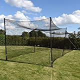 Kyпить Ultimate Baseball Batting Cage [Net & Poles Package] - Net World Sports #42 Heavy Duty Net with Steel Uprights (20', 35', 55', 70') (35' Batting Cage Package) на Amazon.com