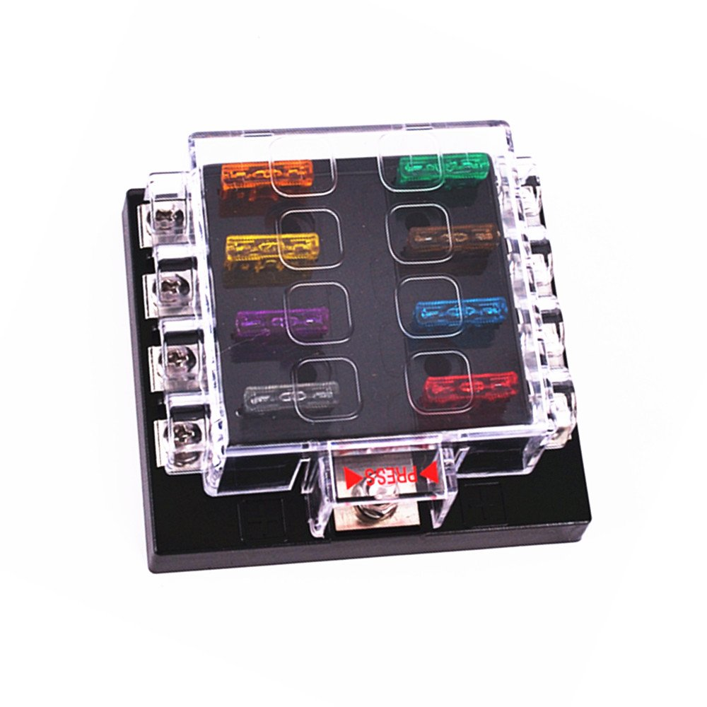 Unviersal High Quality Waterproof 8 Way Circuit Car Fuse Box 32V DC Blade Fuse Holder/Car modification fuse holder HAP