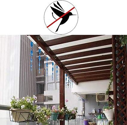 Jolbndcv 16 piezas de varillas repelentes de pájaros, repelente de pájaros, color azul y rojo: Amazon.es: Salud y cuidado personal