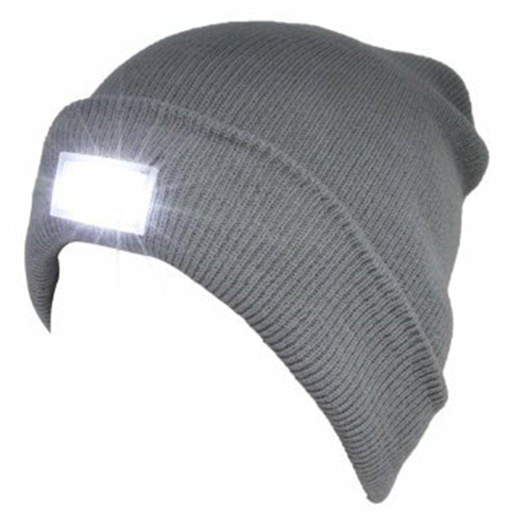 f7f3575f5c7 SnowCinda unisex 5 LED Knitted Flashlight Beanie Hat cap for Hunting ...