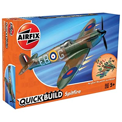 Airfix Quickbuild Supermarine Spitfire Airplane Model Kit: Toys & Games