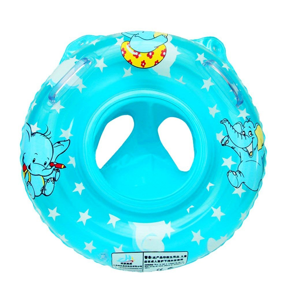 Surenhap Schwimmring Baby aufblasbare Schwimmreifen Schwimmhilfe mit Doppelgriffdesign, Glattes Beinloch-Design Schwimmsitz Ideal fü r Kleinkinder von 6 Monaten bis 3 Jahren (Blau)