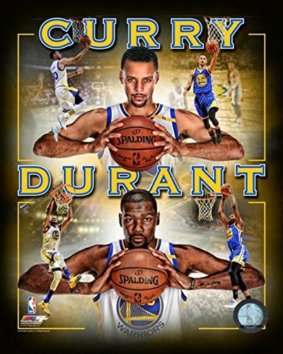 Kevin Durant Stephen Curry Golden State Warriors NBA Photo
