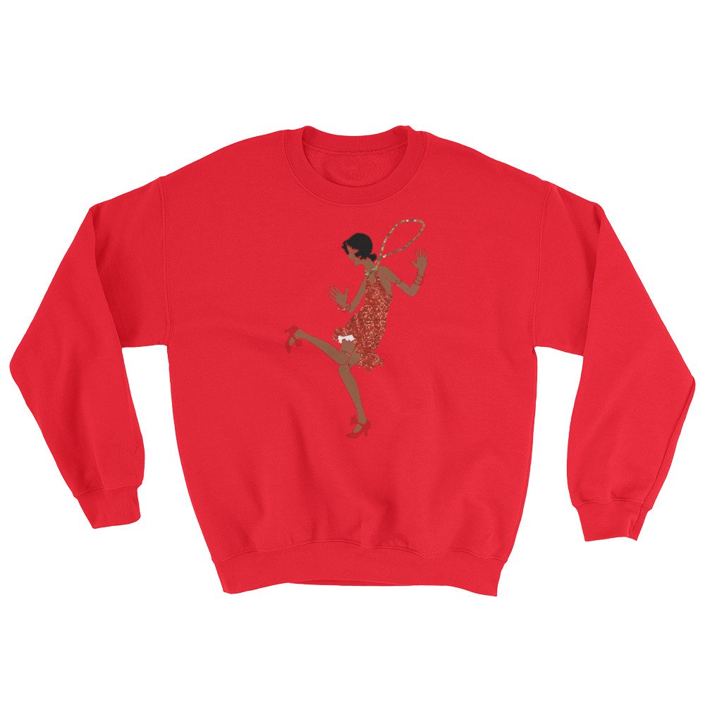 red black flapper Sweatshirt top shirt