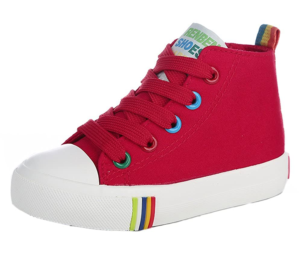 iDuoDuo Boys Girls Comfort Colorful High Top Lace up Zipper Canvas Shoes Toddler//Little Kid//Big Kid