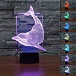SUPERNIUDB Time Machine 3D LED Night Light 7 Color Touch Switich Table Desk Lamp Gifts