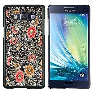 Pintura Oriental Art Rojo Negro- Metal de aluminio y de plástico duro Caja del teléfono - Negro - Samsung Galaxy A5 / SM-A500